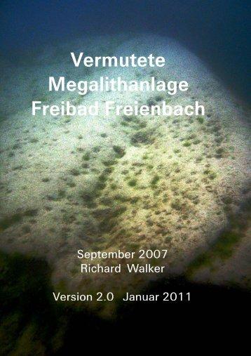 Vermutete Megalithanlage Freibad Freienbach - UrsusMajor