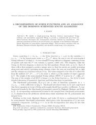 A DECOMPOSITION OF SCHUR FUNCTIONS AND AN ANALOGUE ...