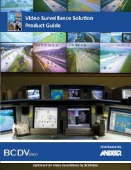 Video Surveillance Solution Product Guide - BCDVideo