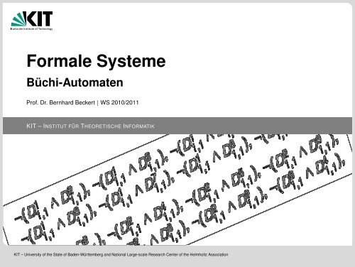 Formale Systeme - KIT