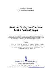 Unha carta de José Fontenla Leal a Pascual Veiga