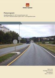 Høringsutkast planprogram Transportkorridor vest
