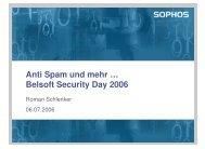 Anti Spam und mehr … Belsoft Security Day 2006