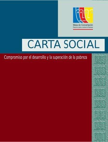 Carta social - Mesa de Concertación para la lucha contra la Pobreza