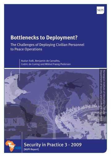 Bottlenecks to Deployment? - NUPI