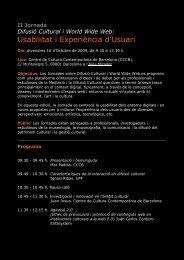 I Jornada de Difusió Cultural - Lluís Codina