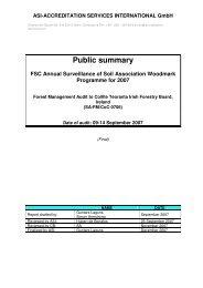Public summary - FSC Watch