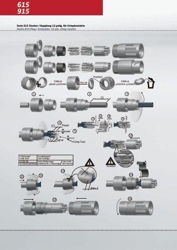 Serie 615 Stecker / Kupplung 12-polig, für ... - AP Technology