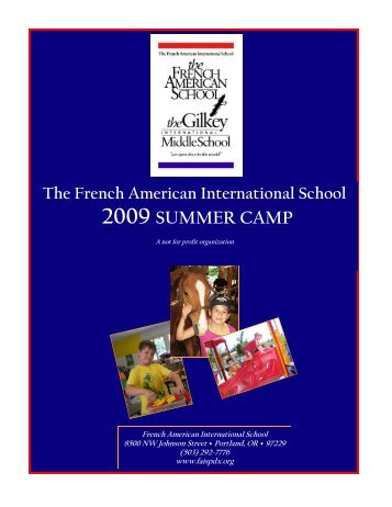 2009 FAIS Summer Camp - French American International School