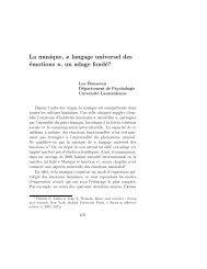 La musique, « langage universel des émotions », un adage fondé?