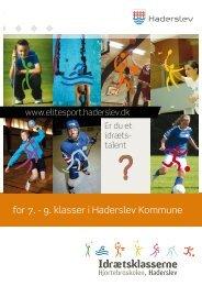 for 7. - 9. klasser i Haderslev Kommune - Haderslev Elitesport