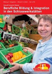 Broschüre Berufliche Bildung - und Werkstätten