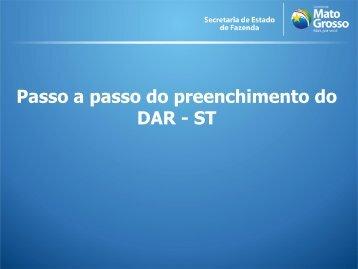 Passo a passo do preenchimento do DAR - ST - Sefaz