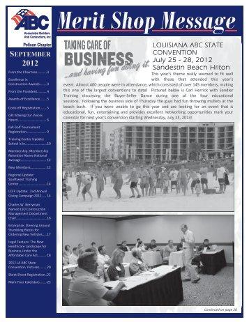 September 2012 Newsletter - ABC
