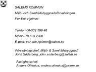 SALEMS KOMMUN Miljö- och Samhällsbyggnadsförvaltningen Per ...