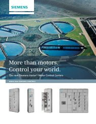 More than motors. Control your world. - Siemens Industry, Inc.