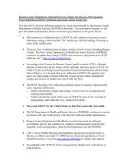 health department guidelines update for h1n1 swine influenza