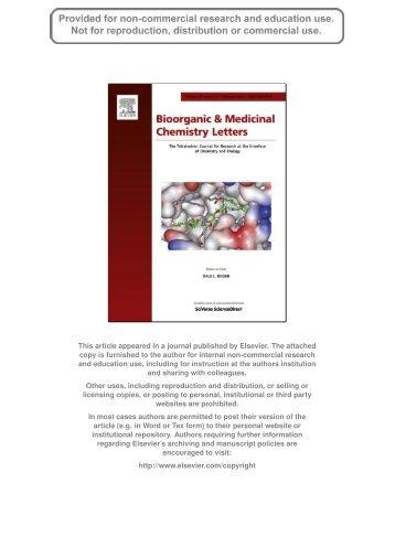 & Medicinal Chemistry Letters miguelprudencio