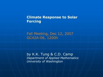 Climate Response to Solar Forcing Fall Meeting, Dec ... - Acrim.com