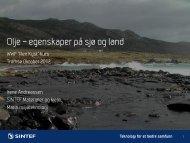 Olje – egenskaper på sjø og land - WWF