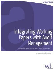 Integrating Working Papers with Audit Management - Acl.com