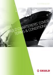 skuld Charterers' Cover terMs & CoNdItIoNs - Extranet