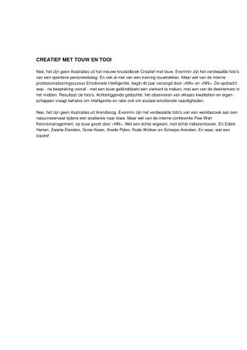 50) J. Simons Creatief met touw en tooi in Oehoe 6(2002)1, 22-23