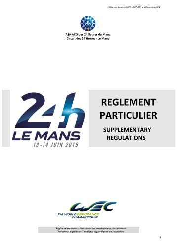 2015-24-heures-du-mans-supplementary-regulations