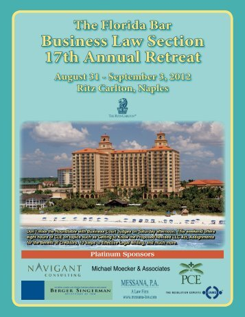 Business Law Section 17th Annual Retreat - FlaBar IP Committee Blog