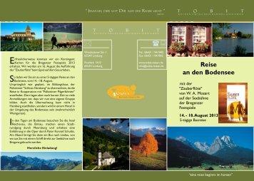 Bodensee Zauberflöte - Tobit-Reisen