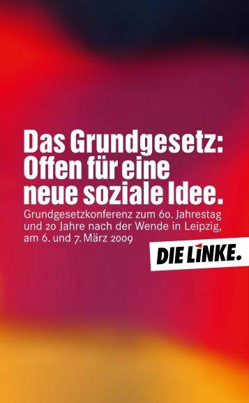 Das Grundgesetz: Offen für eine neue soziale Idee. - Die Linke