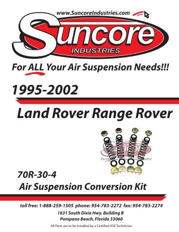 Land Rover Range Rover - Suncore Industries