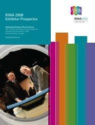 RSNA 2008 Exhibitor Prospectus - RSNA 2008 - Radiological ...