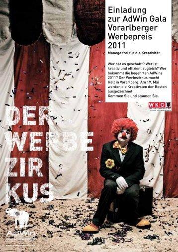 Einladung zur Adwin Gala Vorarlberger Werbepreis 2011
