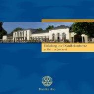 Einladung zur Distriktkonferenz - Rotary Club Bad Vilbel