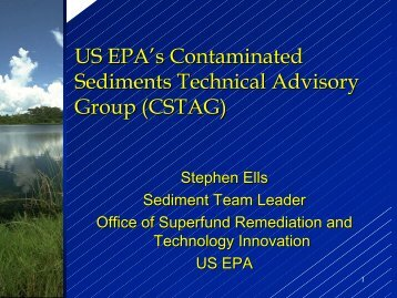 US EPA's Contaminated Sediments Technical Advisory Group ...