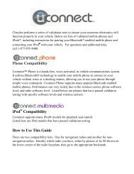 Phone Compatibility ipod Compatibility How to Use This Guide
