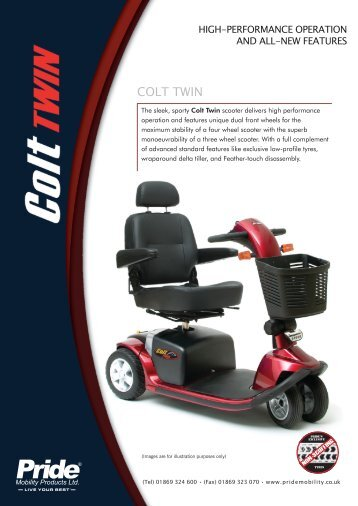 Download the Pride Colt Twin brochure - Value Mobility Scooters
