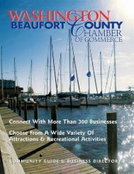 Washington Beaufort Chamber of Commerce Community Guide and ...