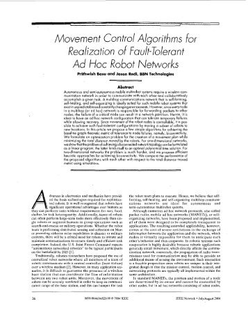 Movement control algorithms for realization of fault-tolerant ... - NSLab