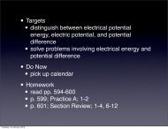 • Targets • distinguish between electrical potential energy, electric ...