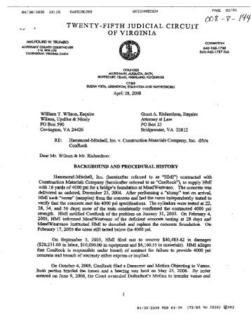 OF VIRGINIA - Virginia Lawyers Weekly