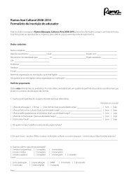 Rumos Itaú Cultural 2008-2010 Formulário de inscrição do educador