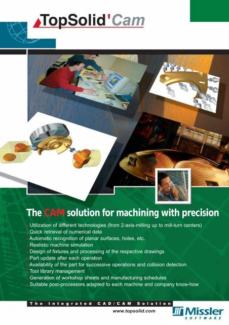 The CAM solution for machining with precision - TopSolid