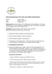 1 Minnesanteckningar från möte med LAMKs arbetsutskott - SLU