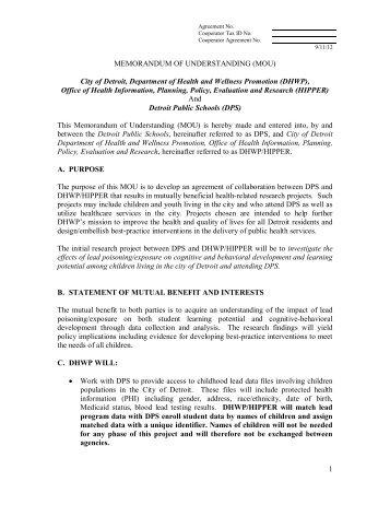 Memorandum of Understanding, if you're interested. - Blogs