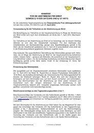 5. Hinweise zur Briefwahl - Österreichische Post AG