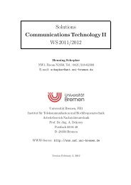Solutions Communications Technology II WS 2011/2012