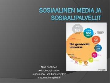 sosiaalinen media ja sosiaalipalvelut - Lapsen ääni
