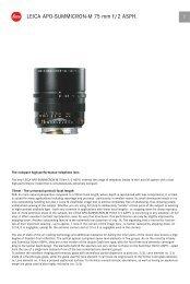 LEICA APO-SUMMICRON-M 75 mm f/2 ASPH. 1 - Leica Camera ...